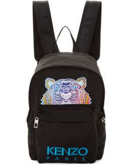 Black Limited Edition Embroidered Tiger Backpack
