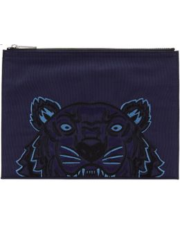 Navy Tiger Pouch