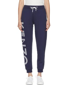 Navy Logo Track Pants