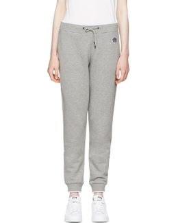 Grey Tiger Crest Track Pants
