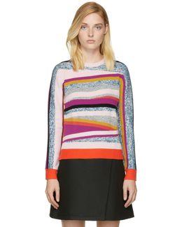 Pink Broken Stripes Sweater