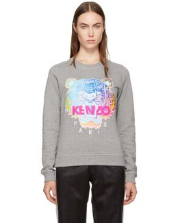 Grey Limited Rainbow Geo Tiger Sweatshirt