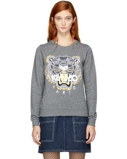 Icons Tiger Print Cotton Sweatshirt