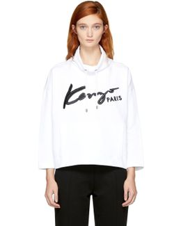 White Signature Logo Sweatshirt
