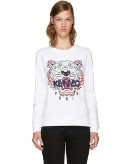 White Limited Edition Tiger Sweatshirt