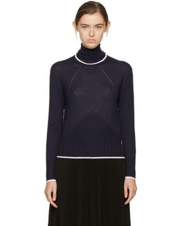 Navy Cute Fit Turtleneck