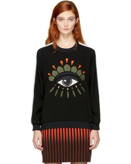 Black Crepe Eye Sweatshirt