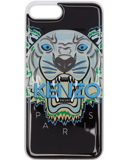 Black & Blue Limited Edition Northern Lights Tiger Iphone 7 Plus Case