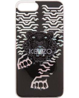 Silver Geo Tiger Iphone 7 Plus Case