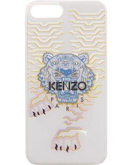 White Geo Tiger Iphone 7 Plus Case