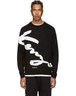 Black Signature Logo Sweater