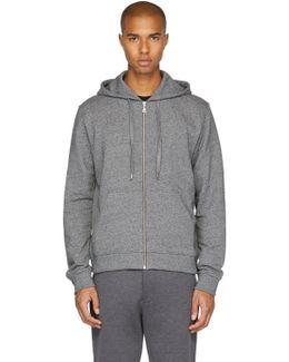 Grey Logo Zip Hoodie