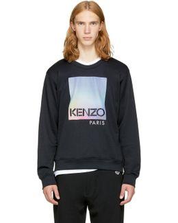 Black Paris Logo Sweatshirt