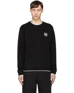 Black Tiger Crest Sweater