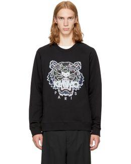 Black Relaxed Tiger Sweatshirt
