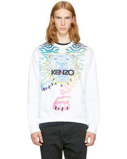 White Rainbow Tiger Sweatshirt