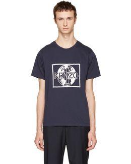 Navy ' World' T-shirt
