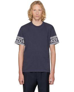 Blue Logo Sleeve T-shirt