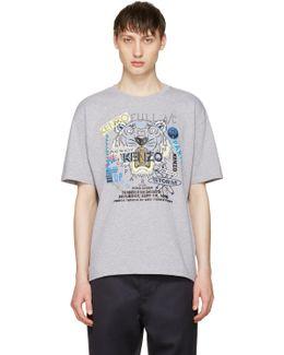 Grey 'flyer X Tiger' T-shirt