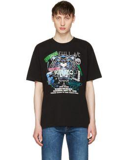 Black 'tiger X Flyer' T-shirt