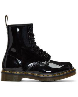 Black Patent 1460 Boots