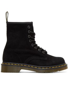 Black Suede 1460 Boots