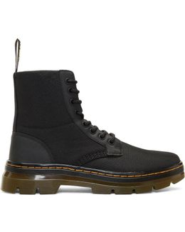 Black Nylon Tract Combs Boots