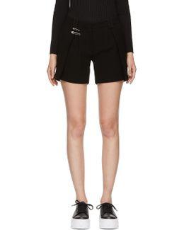 Black Safety Pin Shorts