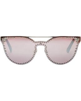 Silver Rock Icons Medusa Studded Sunglasses