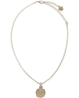 Gold Infinity Medallion Necklace