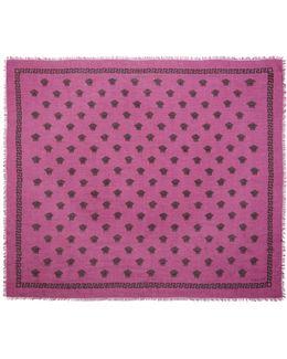 Pink & Black Medusa Modal Scarf