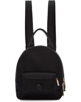 Black Mini Palazzo Backpack
