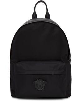 Black Nylon Medusa Backpack