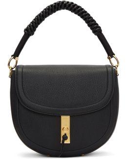Black Suede Medium Ghianda Bag