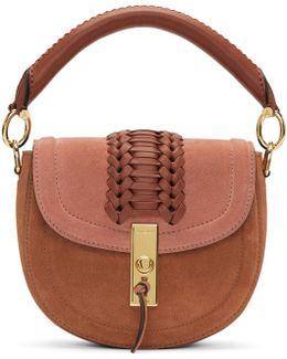 Pink Suede Mini Ghianda Bag