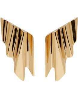 Gold Babylone Clip-on Earrings