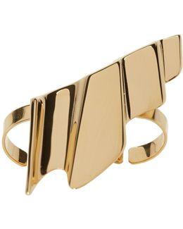 Gold Babylone Two-finger Ring