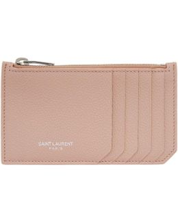 Pink 5 Fragments Zip Card Holder
