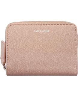 Pink Rive Gauche Compact Zip Around Wallet