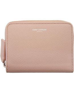 Pink Rive Gauche Compact Zip Around Wallet