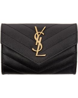 Black Small Monogram Envelope Wallet