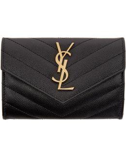 Black Small Monogram Envelope Wallet