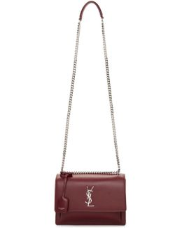 Red Medium Monogram Sunset Chain Satchel
