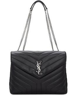 Black Medium Loulou Chain Bag