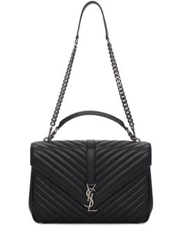 Black Large Monogram Collège Bag