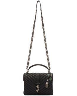 Black Medium Monogram College Pins Bag