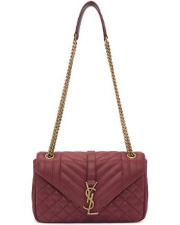 Red Medium Soft Envelope Monogram Bag