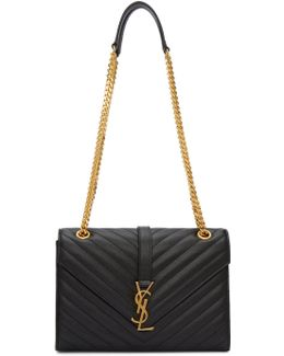 Black Medium Envelope Monogram Bag