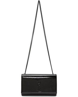Black Patent Medium Kate Chain Bag