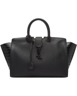 Black Small Downtown Cabas Tote